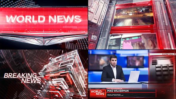 AE模板:新闻广播电视栏目包装全套 Broadcast Graphic Package - 01