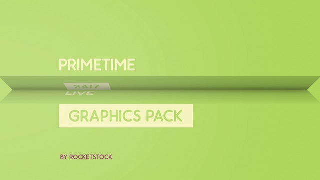 AE模板:简洁图形动画图文展示栏目包装 Primetime Broadcast Graphics Pack