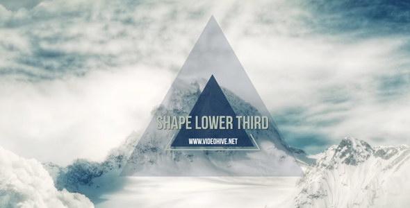 AE模板:运动小图形标签文字标题动画效果 Shape Lower Third