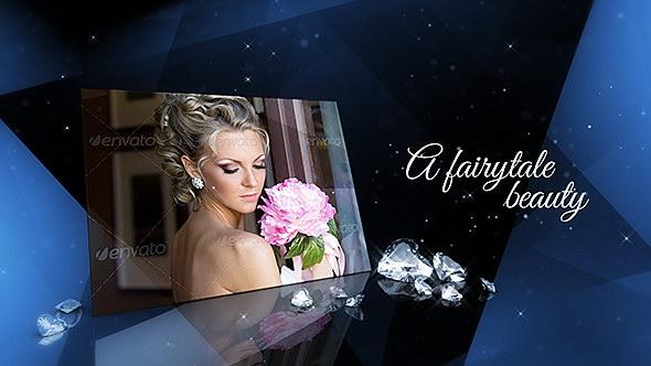 AE模板:精美奢华钻石婚礼幻灯片照片展示相册包装效果