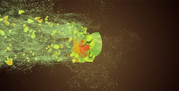 AE模板:粒子破碎 LOGO 标志展示效果 Motion Particles Logo