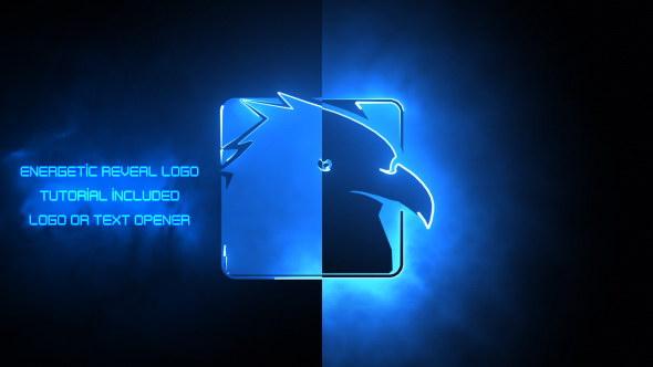 AE模板:Saber 激光电流能量 LOGO 标志展示片头