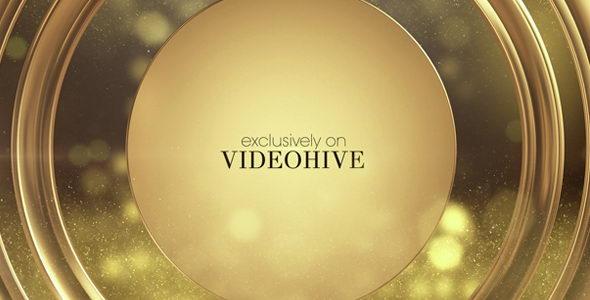 AE模板:大气高贵金色粒子晚会活动电影颁奖栏目包装