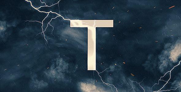 AE模板:史诗震撼雷雨闪电电影预告片 ThunderStorm