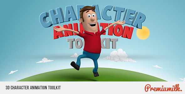 ae模板:三维立体卡通人物角色生活图标元素场景标题