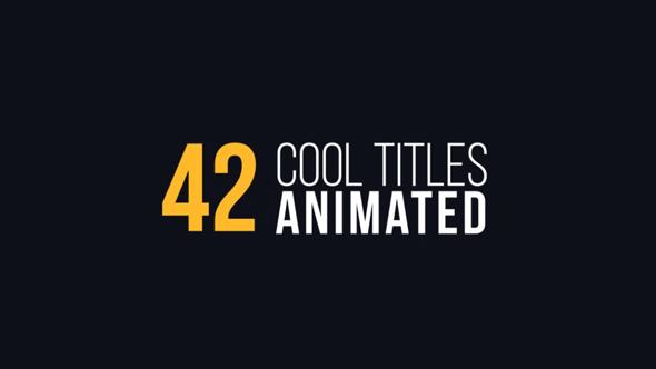 AE模板:42种超酷个性文字标题排版动画  42 Cool Titles Animated