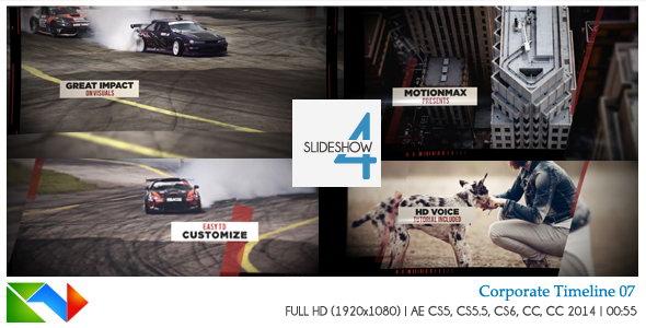 AE模板:打碟动感节奏图文展示效果 Slideshow 04