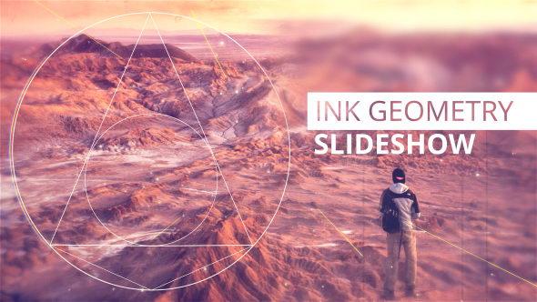 AE模板:水墨遮罩晕开切换图文展示 Ink Geometry Slideshow