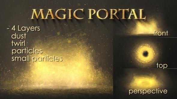 AE模板:漂亮大气魔法风暴粒子动画 Magic Portal