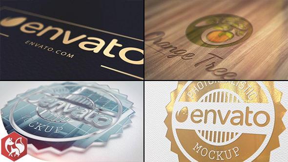AE模板:各种质感便签LOGO片头展示 Realistic Logo