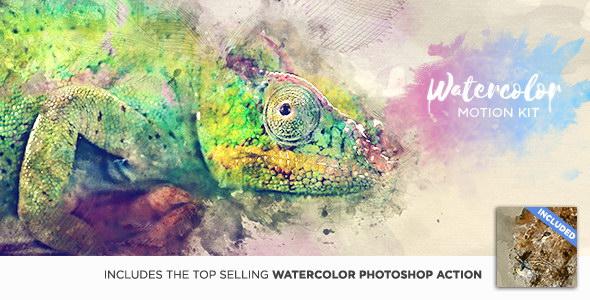 AE预设:水墨油彩掉落晕开显示动画生成器 Watercolor Motion Kit + 使用教程