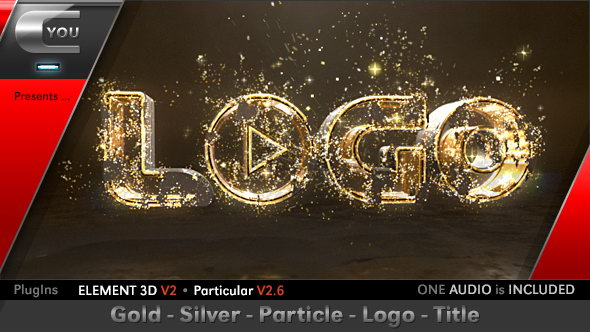 gold-silver-particle-logo-title