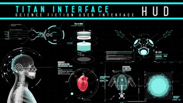 AE模板:高科技UI信息界面HUD动画元素包 HUD - Titan Interface