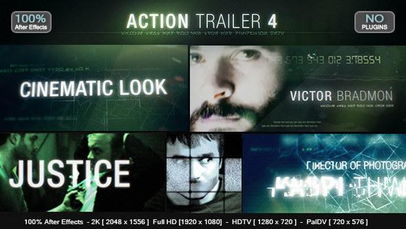 AE模版:影视动作电影片头预告片 Action Trailer 4