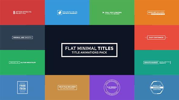 AE模板:简洁平面文字迷你标题动画 Flat Minimal Titles