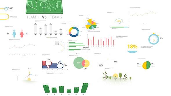 AE模板:现在公司企业商务信息图表展示动画元素 Infographic Pack V.1