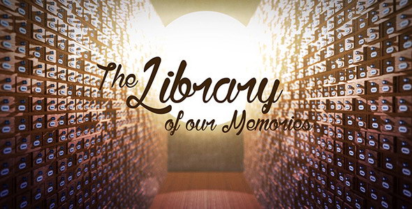 AE模板:三维抽屉相片库复古照片展示 The Library of our Memories Slideshow