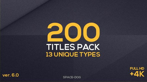 AE模板:200种文字标题字幕条排版动画 200 Titles Pack