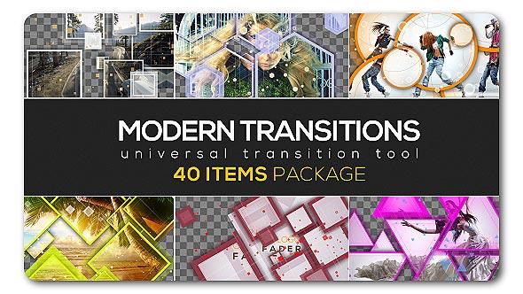 AE模板:现代风格多边形叠加动画转场特效合集 Modern Transition Pack