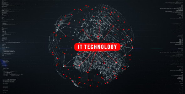 AE模板:数字科技点线链接地图动画展示 Digital Globe