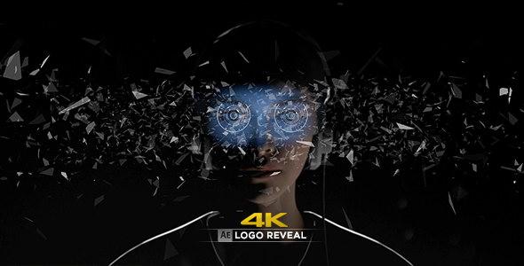 AE模板:VR虚拟现实抽象视觉LOGO标志展示 Virtual Reality 4K Logo Reveal