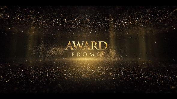 AE模板:大气金色粒子活动颁奖典礼文字标题片头 Awards Titles