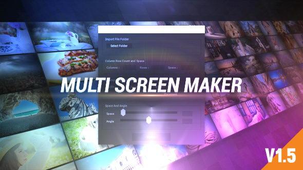 AE模板:多屏幕三维视频墙动画Multi Video Screen Maker Auto+脚本