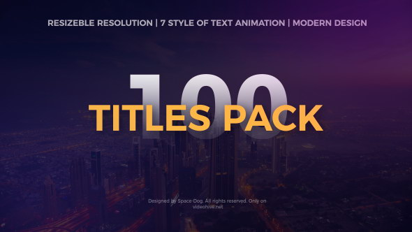 AE模板:100种文字标题动画 The Titles Pack