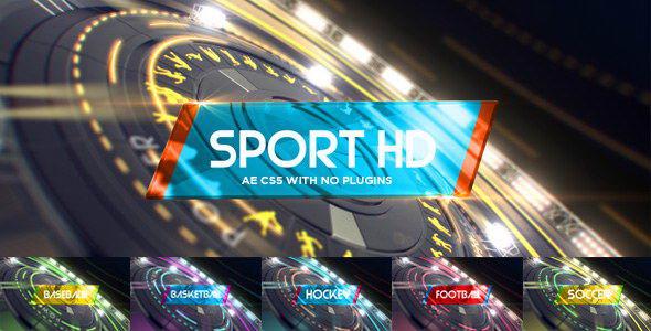 AE模板:高科技体育赛事栏目包装片头 6 in1 Multi-Sport Intro Pack