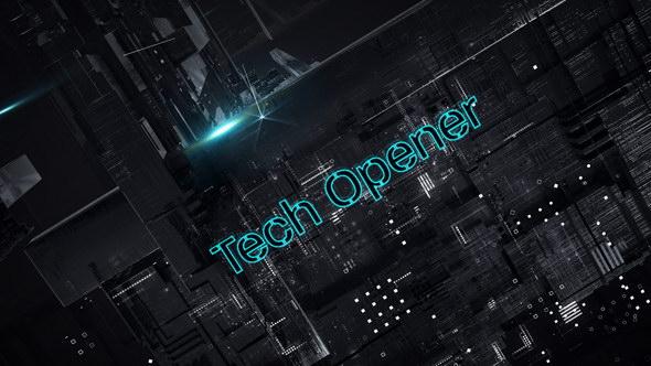 AE模板:三维空间切换科技感文字片头 Tech Opener