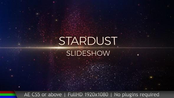 AE模板-粒子汇聚图片文字标题开场片头 Slideshow Stardust