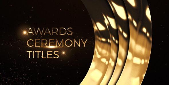 AE模板:金色华丽粒子颁奖典礼晚会活动文字标题片头 Awards Ceremony Titles