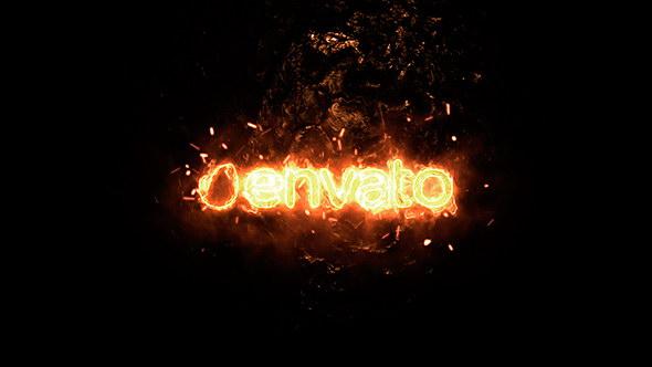 AE模板:能量火焰燃烧LOGO标志片头 Magic Fire Logo