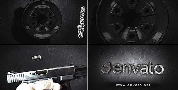 AE模板:手机射击子弹变换LOGO特效片头 Hitman Logo