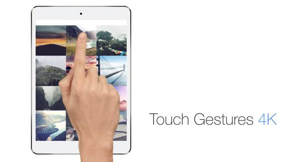 AE模板-手指点击滑动4K手势动画V2.1 Touch Gestures