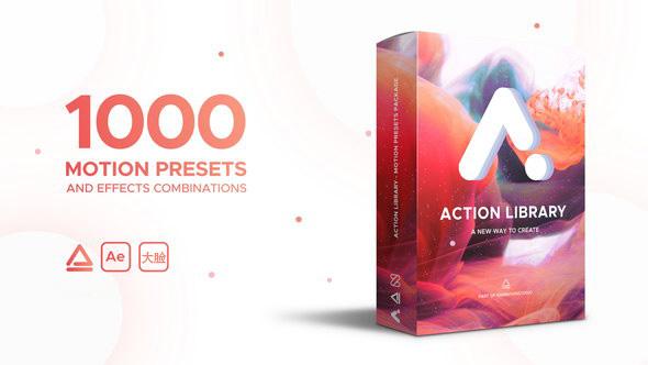AE脚本:图层物体运动出入动画预设 Action Library Win/Mac