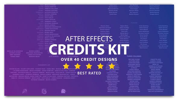 AE模板-视频电影片尾字幕演员表动画 Cinema Film Credits Pack