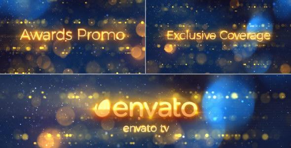 AE模板:金色粒子光斑颁奖宣传片头 Awards Promo