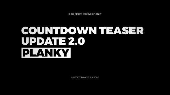 AE模版:激动人心倒计时动画片头 Countdown Teaser V2