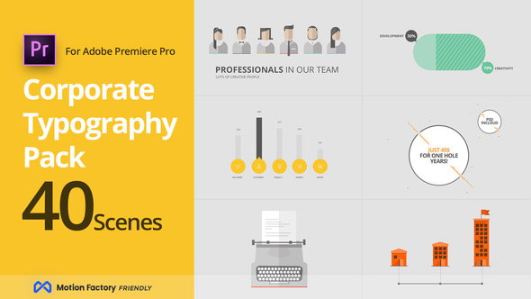 Pr预设-公司企业商务介绍宣传MG片头动画 SEO Corporate Typography Pack for Premiere Pro