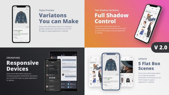 AE模板-iPhoneX手机APP商品展示宣传动画片头TheX - App Presentation Kit
