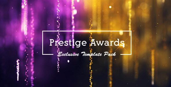 AE模板-金色粒子光束年会活动晚会颁奖典礼栏目包装片头 Prestige Awards