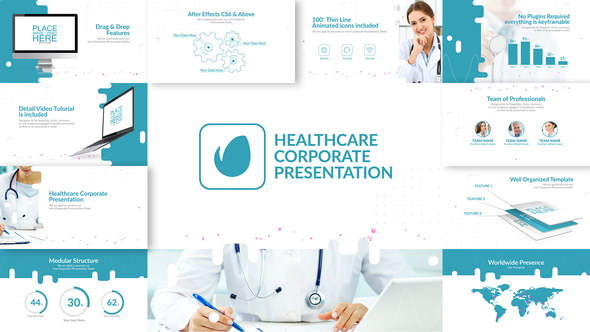 AE模板:医疗公司企业介绍宣传包装 Healthcare Corporate Presentation
