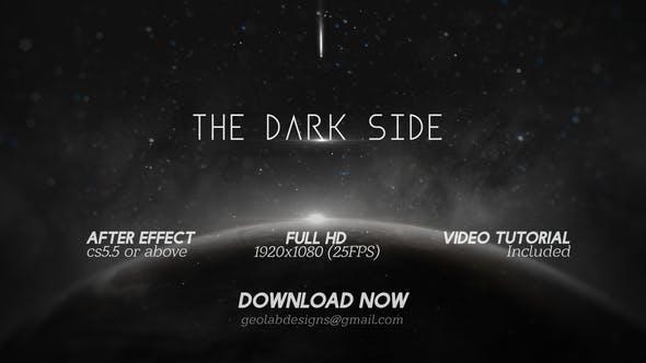 AE模板-宇宙太空黑暗星球文字标题展示片头 The Dark Side