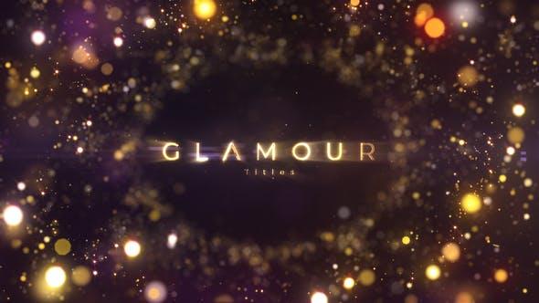 AE模板-金色奢华闪烁粒子背景文字标题宣传片头