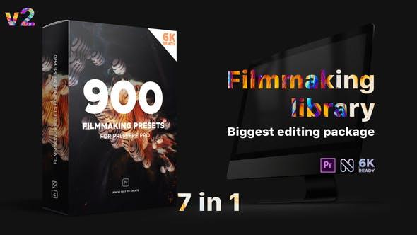 PR预设模板-900+文字标题场景片头视频调色转场特效包装工具包V2