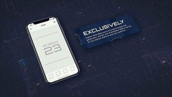 AE模板-科技感手机iPhoneX APP动画宣传片头