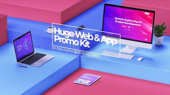 AE模板-三维手机电脑平板网站APP宣传介绍动画片头