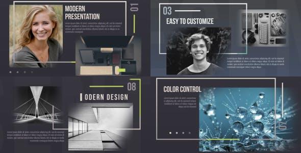 AE模板-现代流行公司企业商务宣传图文包装 Modern Presentation