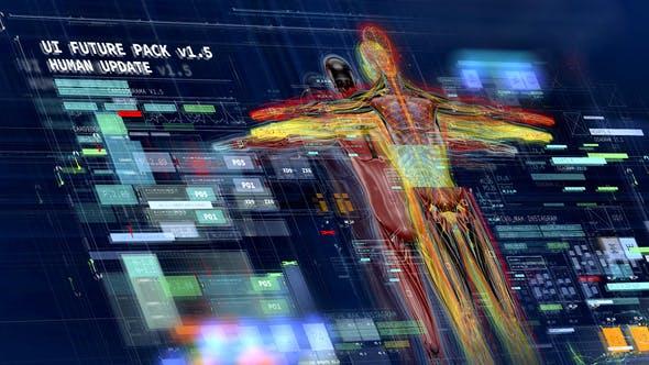 AE模板-科技感人体医学军事HUD指示线标题界面UI动画元素V1.5
